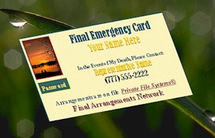 large Emergency Card pix